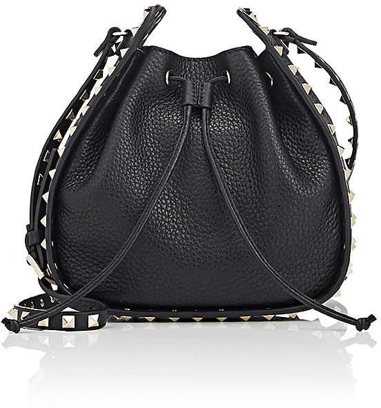 Valentino Garavani Women's Rockstud Leather Bucket Bag