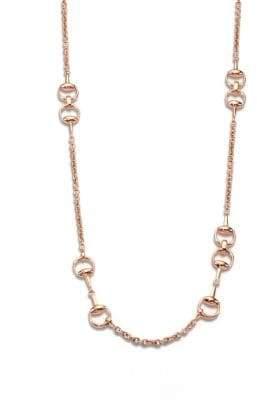 Gucci Horsebit 18K Pink Gold Necklace