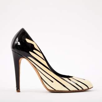 Sergio Rossi White Patent Leather Heels