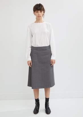 Blue Blue Japan Stretch Denim Houndstooth Pleated Skirt