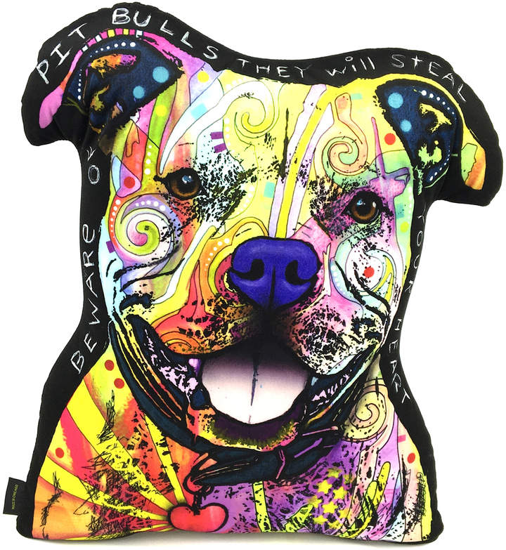Dean Russo Pit Bull Throw Pillow