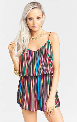 Show Me Your Mumu Rorey Tassel Romper ~ Siesta Siesta Stripe Crinkle