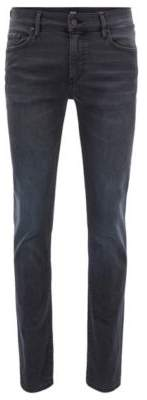 BOSS Hugo Skinny-fit jeans in washed black super-stretch denim 32/34 Charcoal