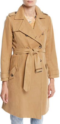 Le Superbe Belted Stripe Trench Coat