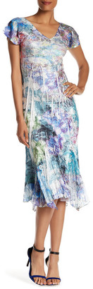 KOMAROV Flutter Sleeve Midi Dress $278 thestylecure.com