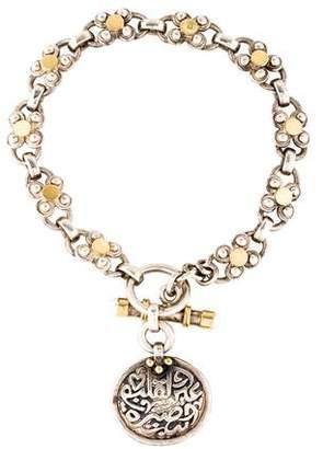 Azza Fahmy Pearl Calligraphy Toggle Bracelet