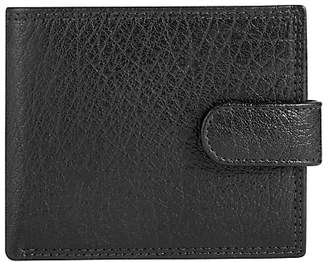 John Lewis & Partners Bifold Tab Katta Aniline Leather Wallet, Black