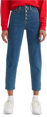 Levi's Button-Fly High-Rise Jeans