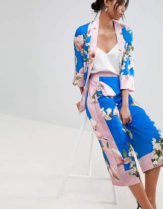 Ted Baker pleat back jacket in harmony floral