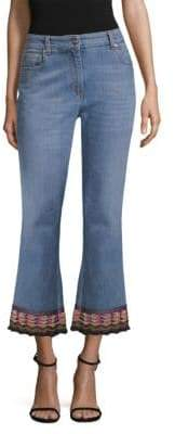 Etro Embroidered Hem Jeans