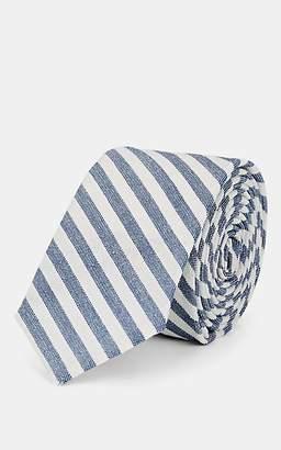 Thom Browne Men's Striped Wool-Blend Necktie - White