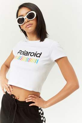 Forever 21 Polaroid Cropped Tee