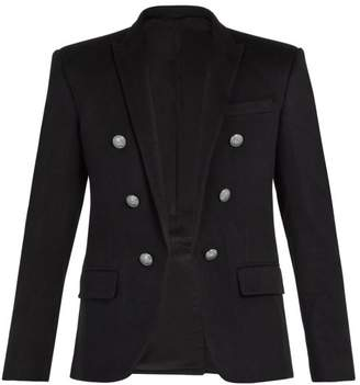 Balmain - Double Breasted Cashmere Blazer - Mens - Black