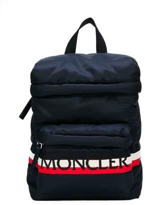 Moncler logo stripe backpack