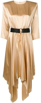 FEDERICA TOSI belted satin dress