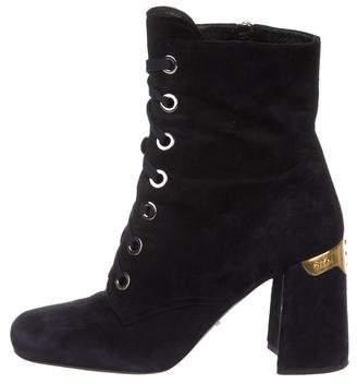 5ec44feb1daa Prada Blue Women s Boots - ShopStyle