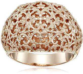 Gold Plated Sterling Silver Filigree Ring