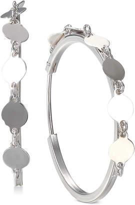 Unwritten Chain Hoop Earrings in Sterling Silver