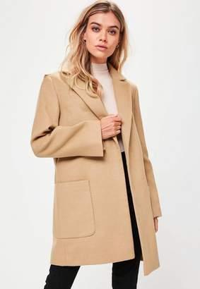 Missguided Tan Slim Fit Coat