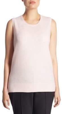Saks Fifth Avenue Saks Fifth Avenue, Plus Size Plus Shell Robin Cashmere Top
