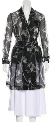 Jason Wu Silk Lightweight Knee-Length Coat