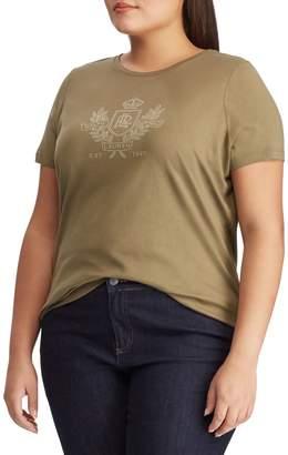 Lauren Ralph Lauren Plus Logo Cotton Blend Tee