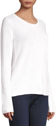 ATM Anthony Thomas Melillo Sparkle Cashmere-Blend Crewneck Sweater