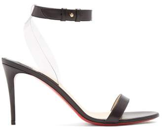Christian Louboutin Jonatina 85 Leather Sandals - Womens - Black