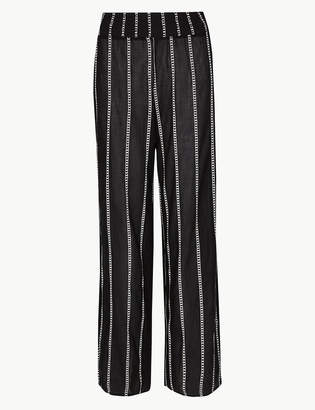 Marks and Spencer Pure Cotton Striped Beach Trousers