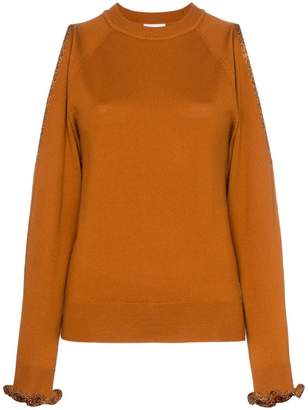 b99dc98092e See by Chloe cut out shoulder wool jumper
