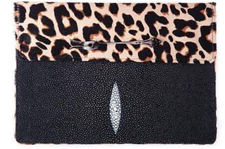 William Tokyo Black Fish & Cheetah Print Hair Bag