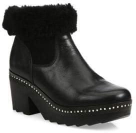 Rag & Bone Nelson Leather & Shearling Clog Booties