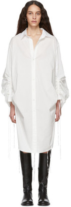 Ann Demeulemeester White Long Sleeve Shirt Dress