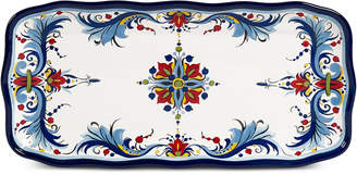 Tabletops Unlimited San Marino Italian Blue Rectangular Tray