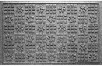 Bungalow Flooring Aqua Shield Dog Paw Squares Doormat Medium Gray