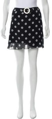 Valentino Silk Mini Skirt Blue Silk Mini Skirt