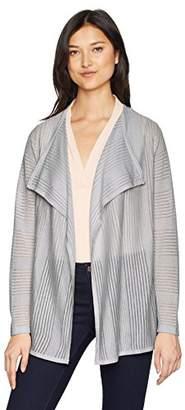 Calvin Klein Women's Sheer Detail Flyaway Cardigan