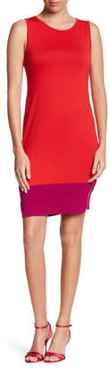 Loveappella Colorblock Back Keyhole Dress