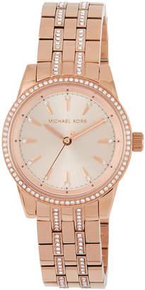 39ca5b2b8bf9 MICHAEL Michael Kors 33mm Mini Ritz Crystal Pave Bracelet Watch Rose Golden