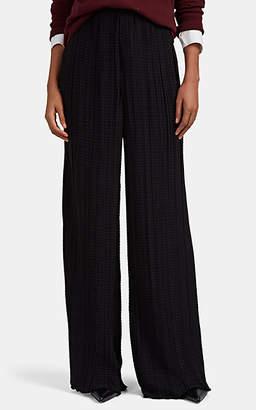 The Row Women's Arya Plissé Wide-Leg Pants - Black