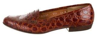 Salvatore Ferragamo Embossed Leather Loafers