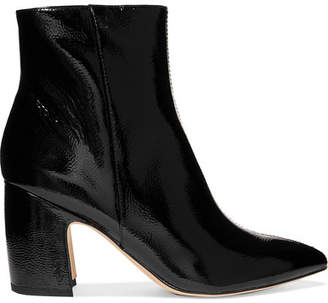 c04e1dcd1 Sam Edelman Hilty Patent-leather Ankle Boots - Black