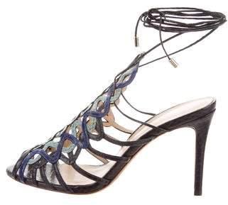 Alexandre Birman Sankeskin Lace-Up Sandals