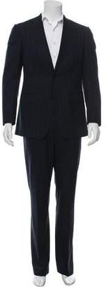 Versace Wool Striped Two-Piece Suit