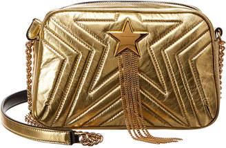 Stella McCartney Small Quilted Star Metallic Shoulder Bag