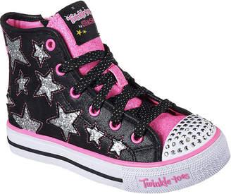 Skechers Twinkle Toes Shuffles Girls Sneakers - Little Kids