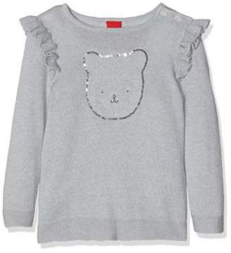 S'Oliver Baby Girls' 65.811.61.2006 Jumper, (Light Grey Melange 9400)