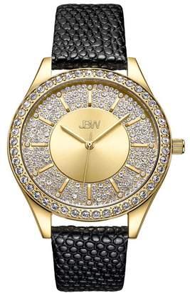 JBW Women's Mondrian 10 Year Anniversary Diamond Leather Strap Watch, 37mm - 0.12 ctw