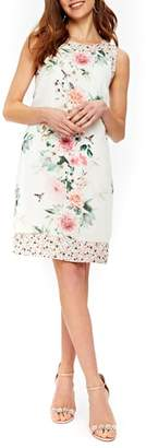 Wallis Peony Print Sheath Dress