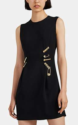 Versace Women's Safety Pin Crepe Minidress - Black